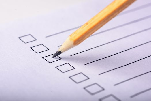 Pencil on the questionnaire