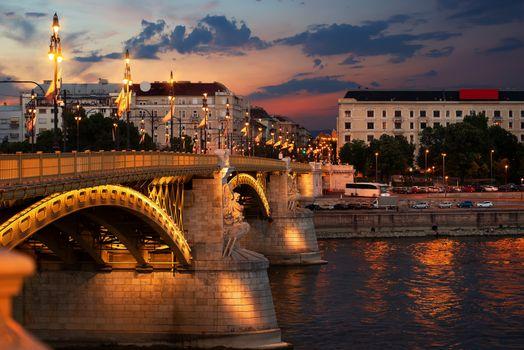 Illuminated Margaret Bridge