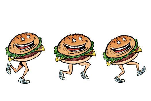 character gait burger set