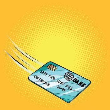 Bank card flies, credit and debit