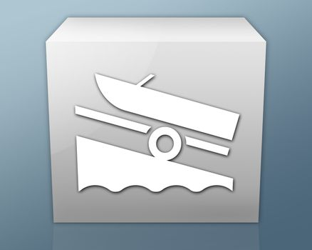 Icon, Button, Pictogram Boat Ramp