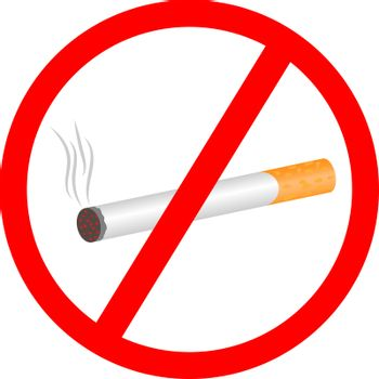 No smoking warning vector pictogram