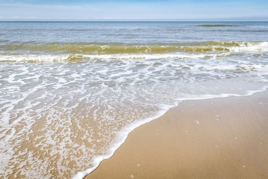Water coming in on a Scandinavian beach