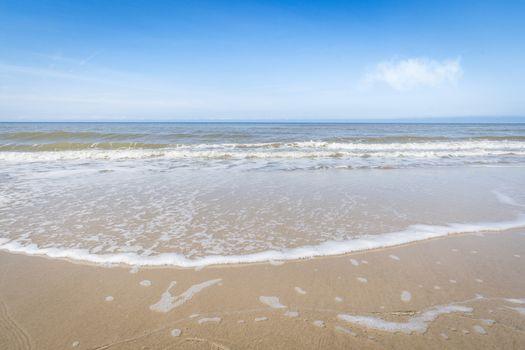 Waves coming in on a Scandinavian beach