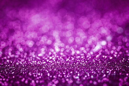 Purple glitter texture christmas or valentine's day background. Macro shot