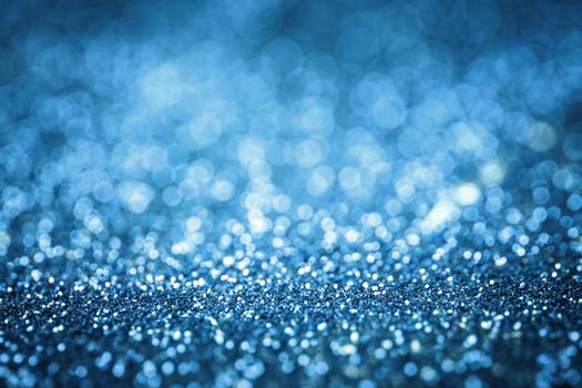 blue glitter texture christmas or valentine's day background. Macro shot