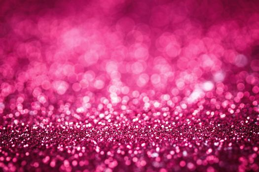 Pink glitter texture christmas or valentine's day background. Macro shot