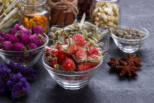 Herbs and dry flowers