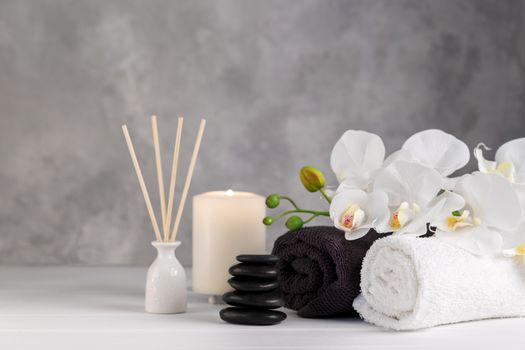 Spa massage and wellness setting