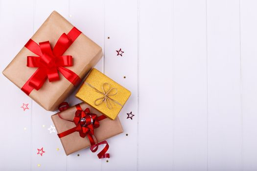 Three gift boxes