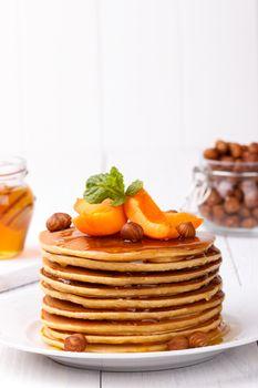American pancakes stack