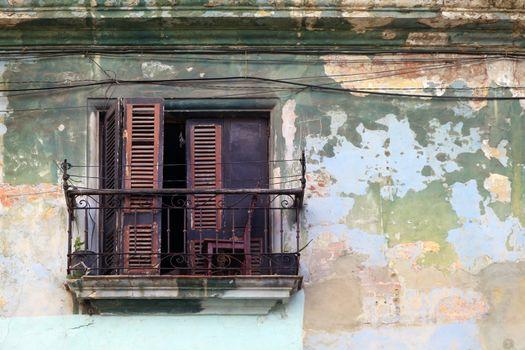 Balcony in Havana, Cuba