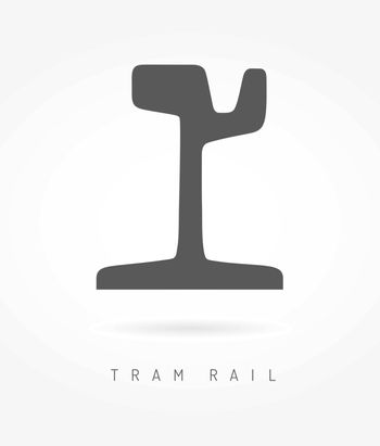 Tram rail logo icon business urban transport concept.