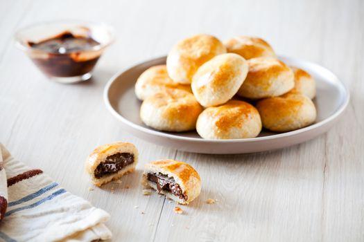 Small Brioche With Chocolate