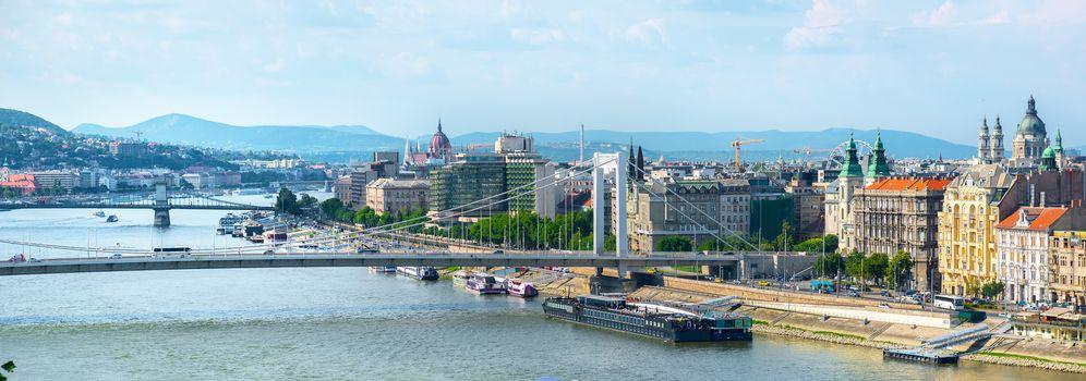 Bridges and Parliament of Budapest