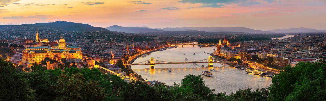 Hungarian capital in evening