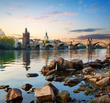 Stones on Vltava river