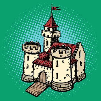 medieval castle, fairy kingdom. real estate