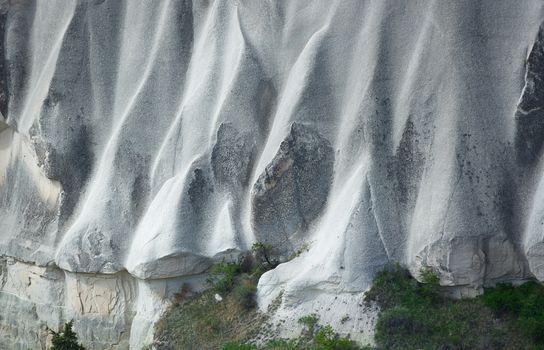 Rock formations in Cappadocia, Turkey. Details