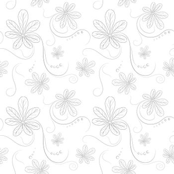 Seamless pattern on flower and texture background.