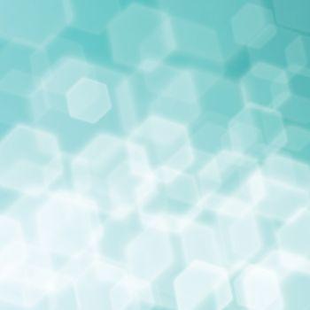 Hexagon Bokeh abstract background.