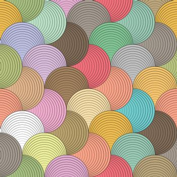 Color wave seamless pattern on vector art.