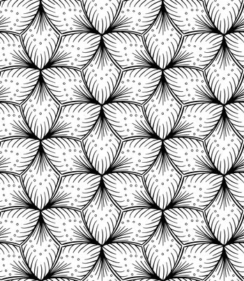 Seamless lined pattern hand drawing.