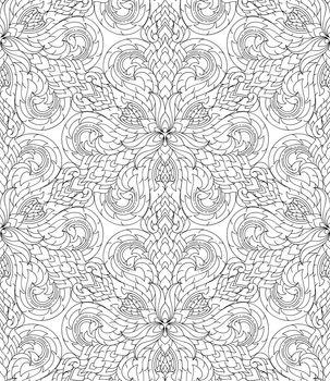 Seamless lined pattern thai art background decoration.