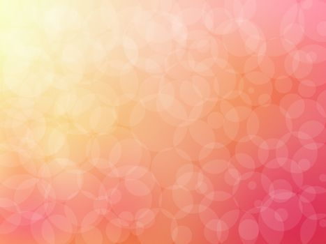 Bokeh abstract background on pink vector graphic art.