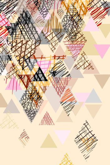 Doodle abstract background in pastel tone.