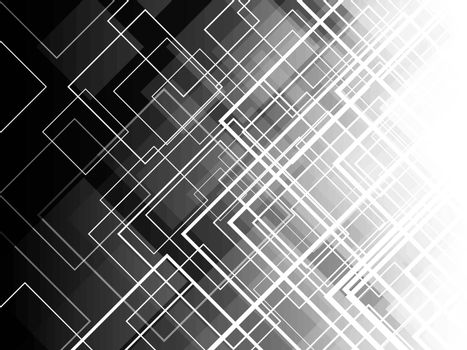 Monochrome diagonal square layers with abstract background.
