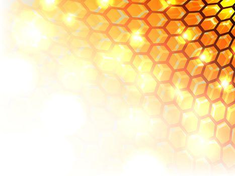 Multi hexagon abstract ground.