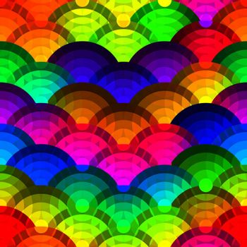 Colorful circles seamless background.