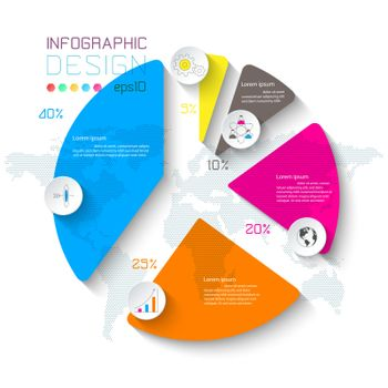 Business infographic on graph bar.