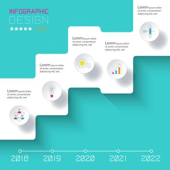 Vector Infographics on time line or steps process.