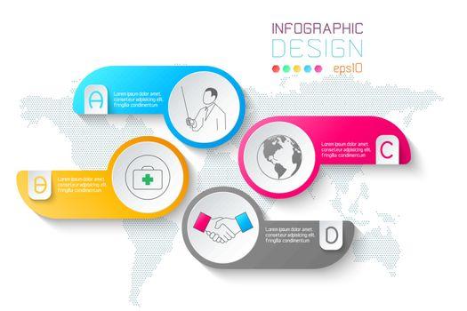 Business labels shape infographic circles bar.