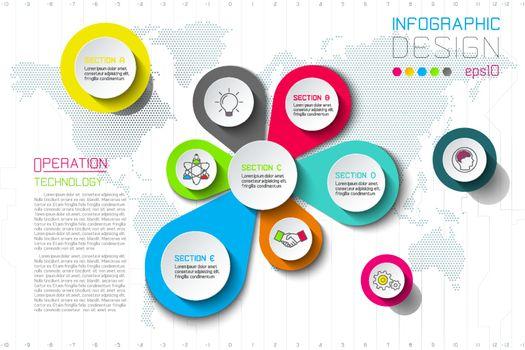Business splash of water drop labels shape infographic.