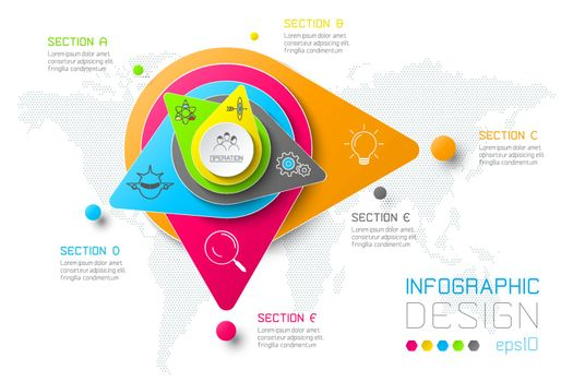 Business abstract infographics with colorful bar.