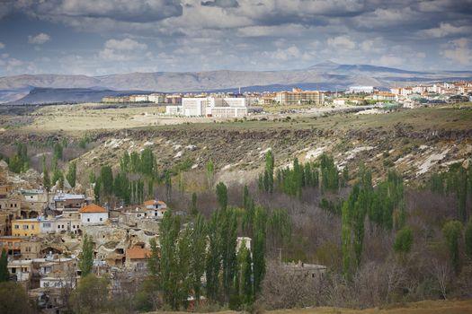 Residential buildings in rural province of Turkey