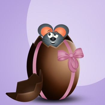 mice surprise in the chocolate egg