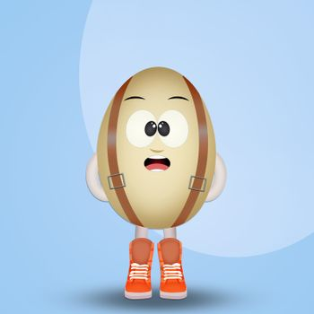 funny white chocolate egg