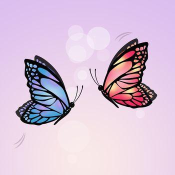 illustration of flying butterflies