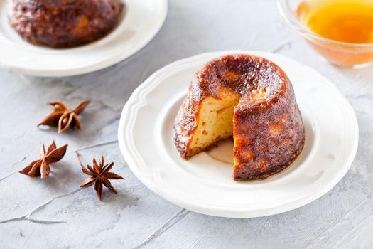 Homemade Christmas Pudding With Syrup