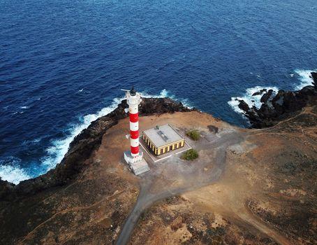 Lighthouse Faro de Rasca on The Tenerife, Canary Islands, Spain.