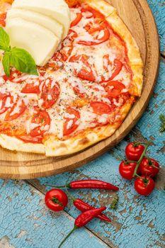 Hot homemade Italian pizza