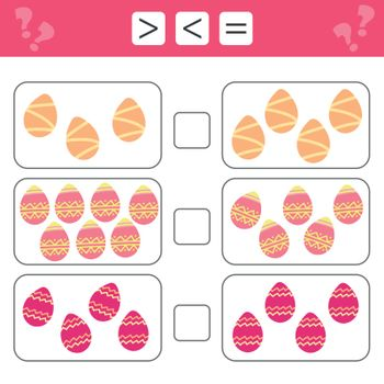 Mathematics educational game for children. Learning counting