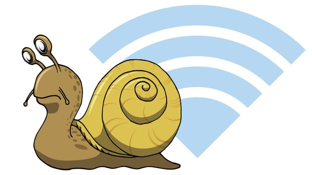 Really snail Slow internet web wifi connection for computers