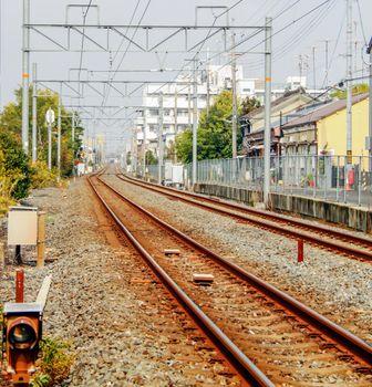 Train tracks in Kyoto