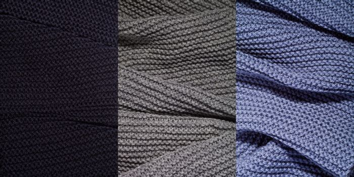 Knitted textures background