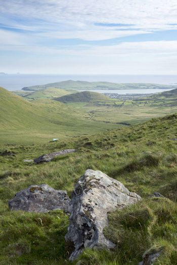 scenic view of the mountains on the kerry way in county kerry ireland